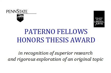 Paterno Fellows Honors Thesis Awards