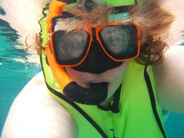Under water.  My favorite place.