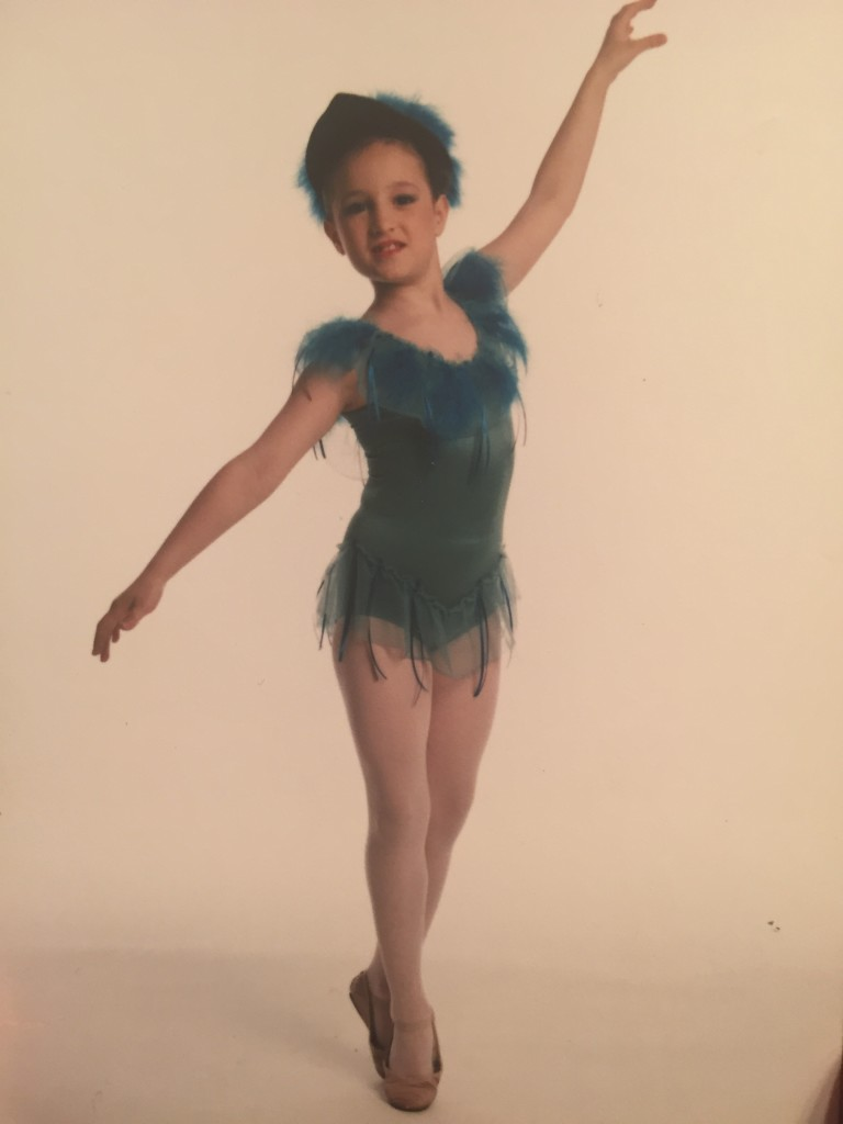 """Age 8 as a """"Humming bird"""" in """"The Magic Flute"""""""