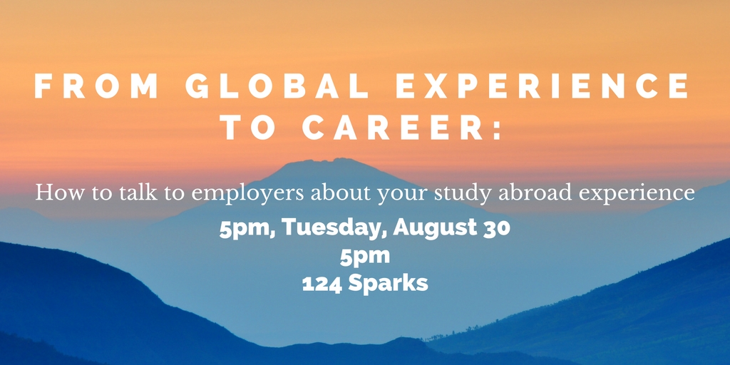 From Global Experience to Career Workshop