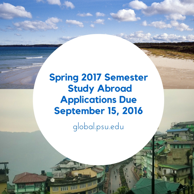 Study Abroad Spring 2017- Applications Due September 15