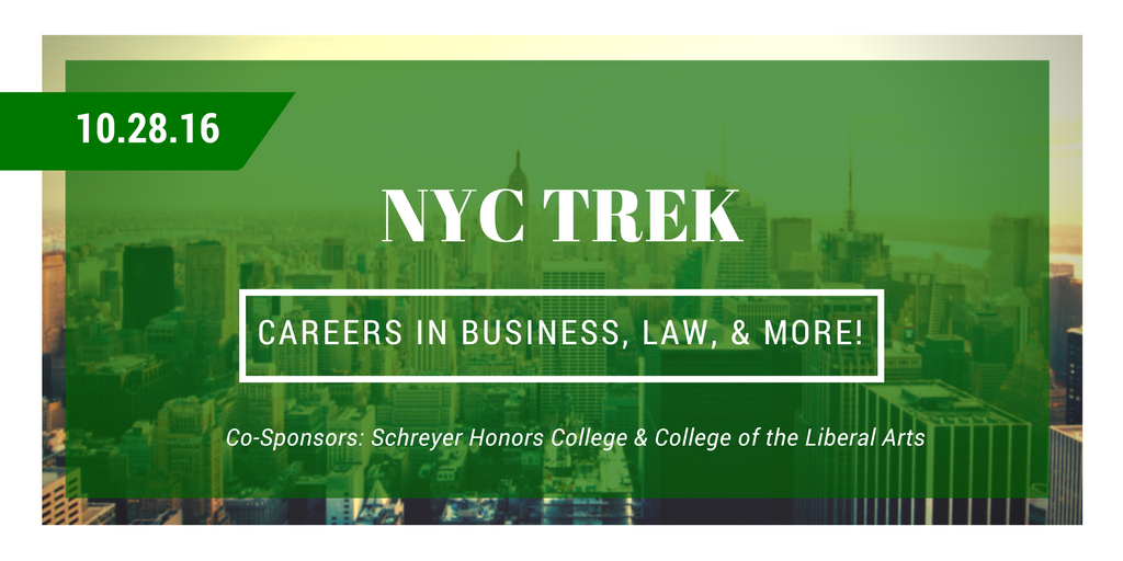 NYC Careers in Business, Law, and More Trek