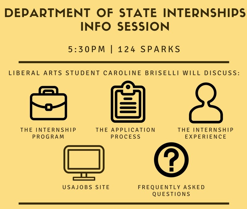 State Department Internship Program Information Session: September 27