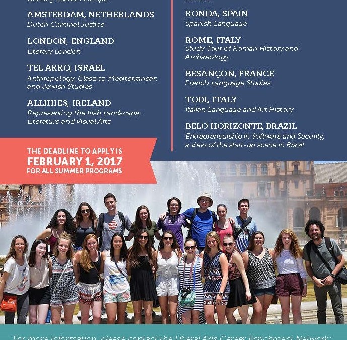 Summer Study Abroad Deadline: February 1