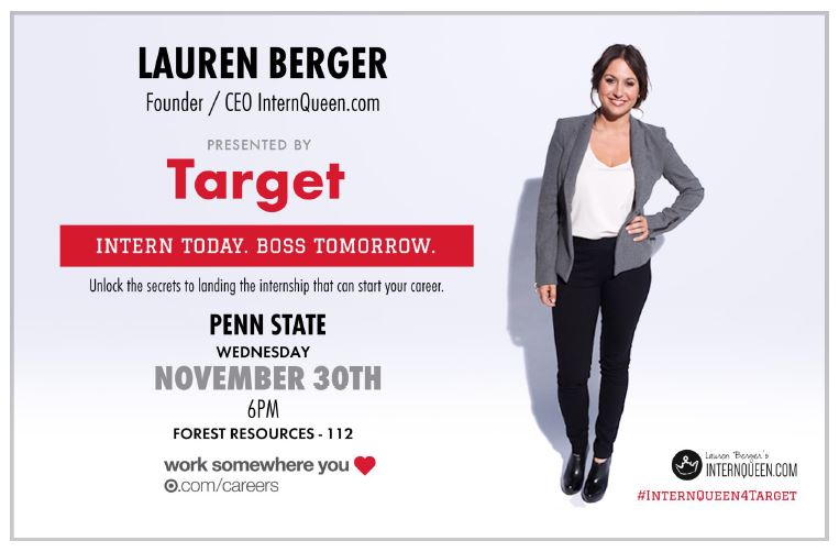 Lauren Berger, Intern Queen, Sponsored by Target