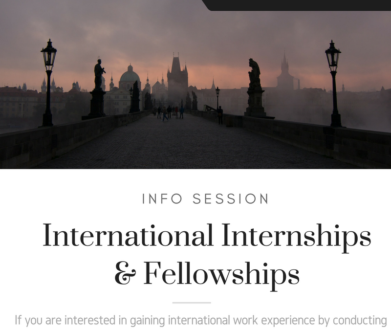 International Internships & Fellowships Session: November 29