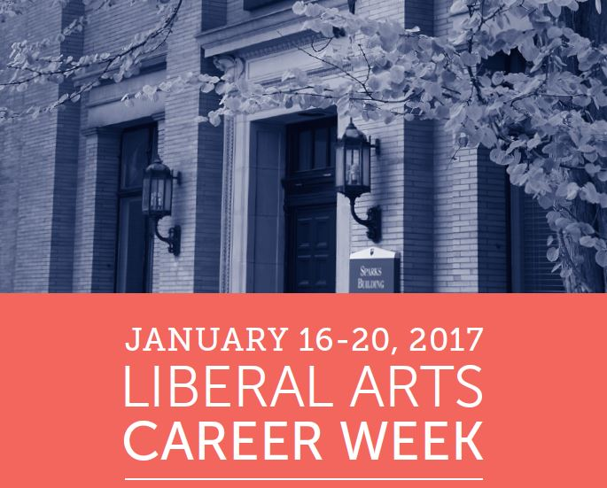 Save the Date for Liberal Arts Career Week: January 16-20, 2017