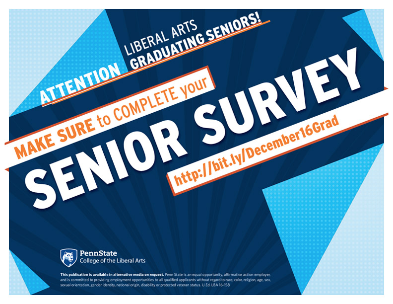 Graduating this Semester? Complete Your Senior Survey!