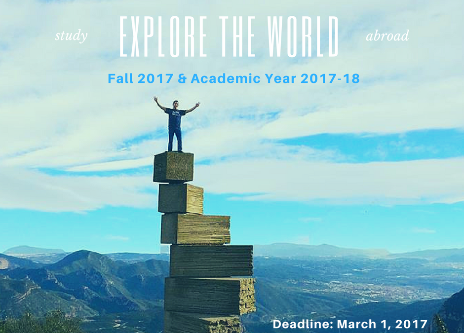 Fall and Academic Year Study Abroad Applications Due March 1