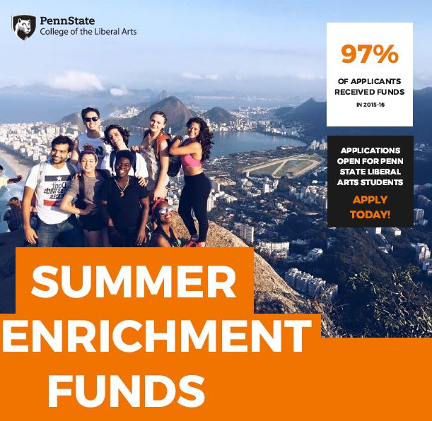 Summer 2017 Enrichment Funds – Applications Open