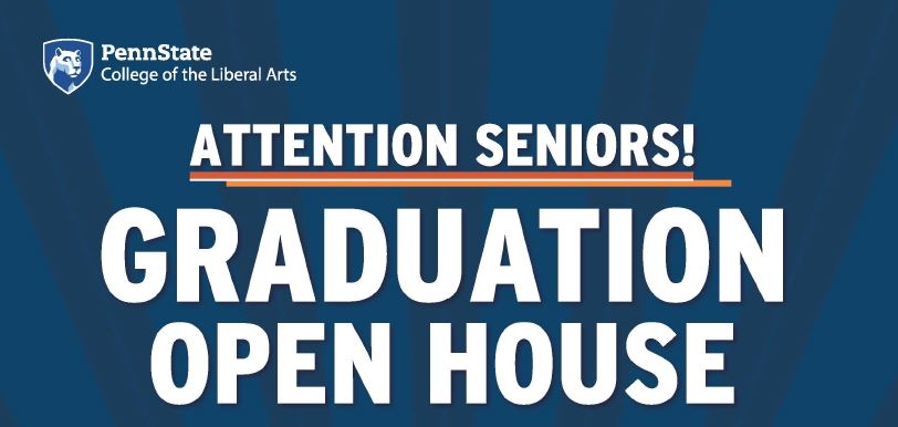 Attention Seniors! Mark Your Calendars for our Graduation Open House: April 18-21