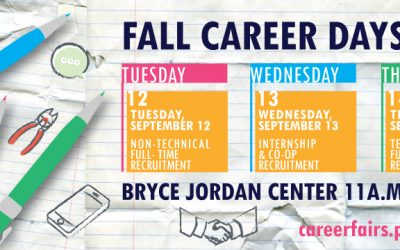 Mark Your Calendars for Fall Career Days: September 12-14