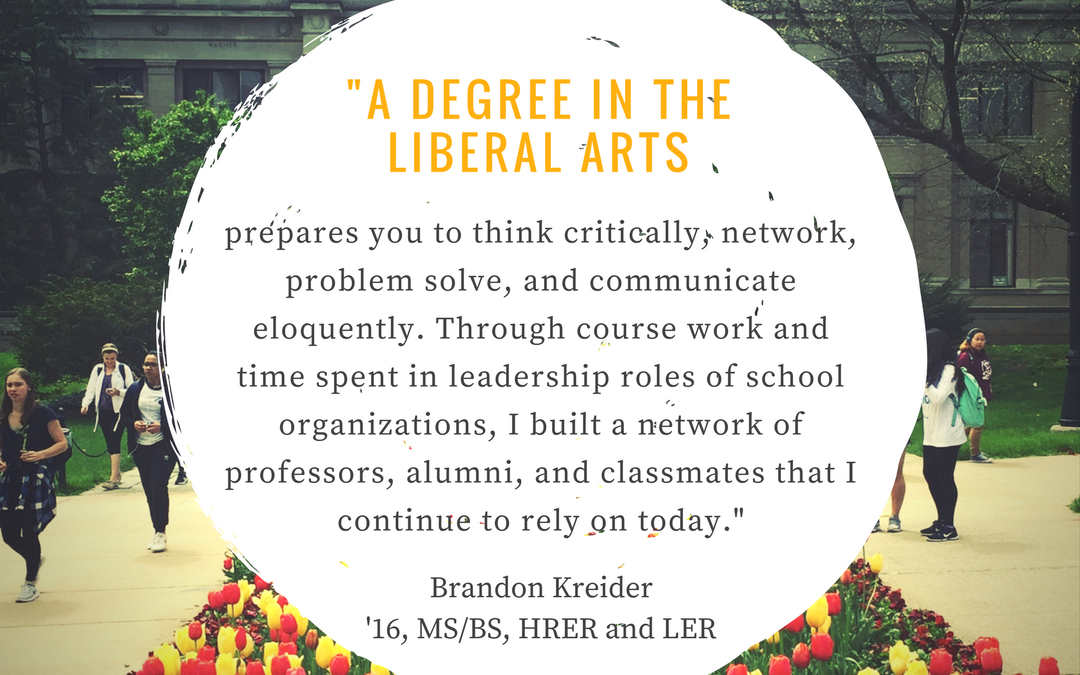 benefits of a liberal arts degree A liberal arts degree: smart move by amber page one of the benefits of a liberal arts education is the chance to explore multiple areas of interest.
