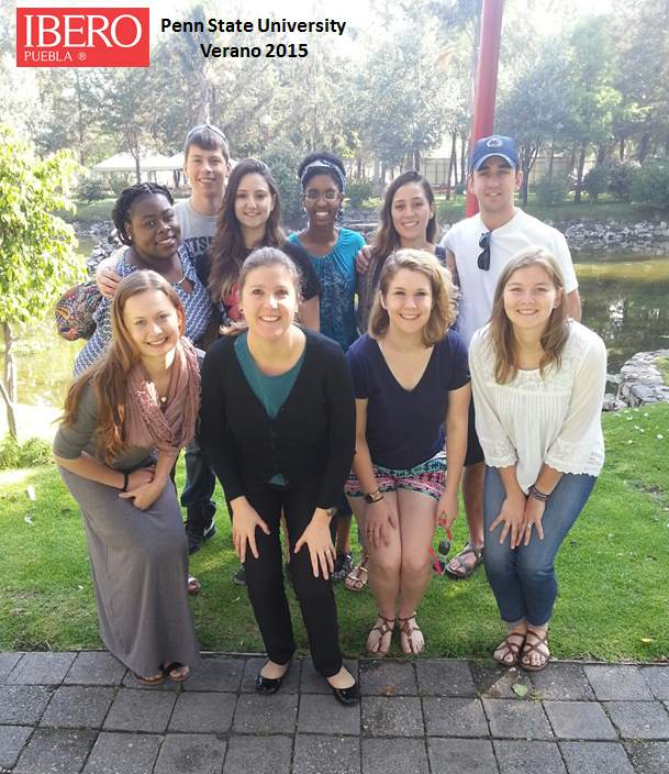 David Goodwin, Puebla-Mexico Summer 2015, Penn Staters at Ibero University where classes were held
