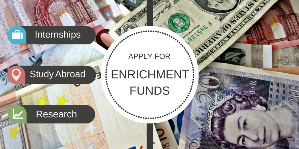 Enrichment Funds Available to Support your Fall Internship, Study Abroad, or Research