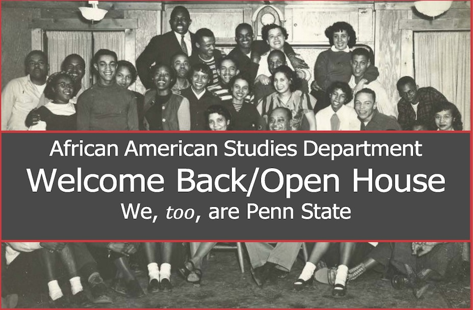 African American Studies Department Welcome Back/Open House