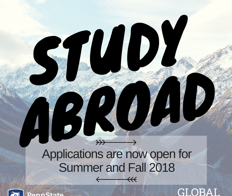 Summer & Fall 2018 Study Abroad Apps Open