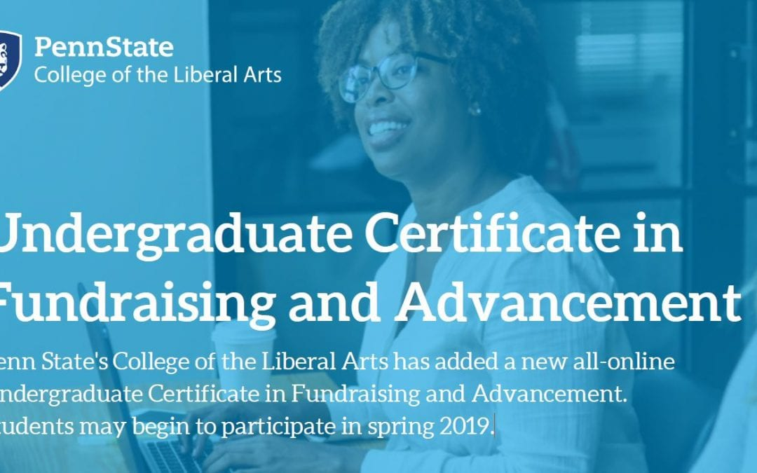 Undergraduate Certificate in Fundraising and Advancement